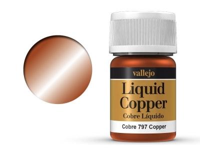 Vallejo Liquid Gold, 70.797, Металлик Медь, 35 мл