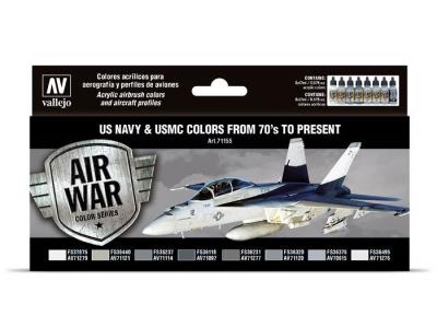 Набор материалов US Navy & USMC Colors from 70's to present для аэрографа, 71.155