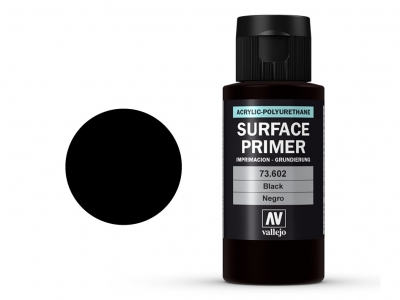 Vallejo Surface Primer, 73.602, Чёрный грунт, 60 мл