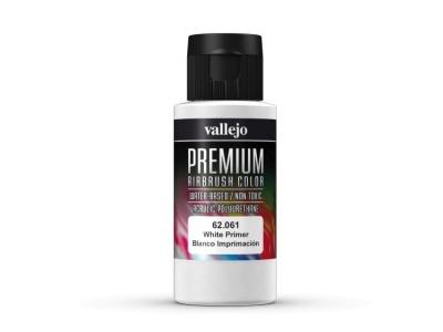 Vallejo Premium White Primer, 62.061, Белый грунт, 60 мл