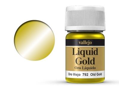 Vallejo Liquid Gold, 70.792, Металлик Состаренное золото, 35 мл