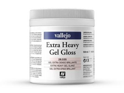 Vallejo Extra Heavy Gel Gloss, 28.535, сверхвязкий глянцевый гель, 500 мл