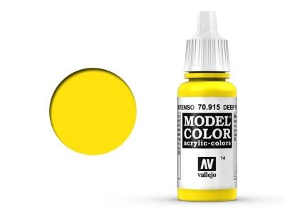 Vallejo Model Color, 70.915, Deep Yellow, Тёмно-жёлтая, 17 мл