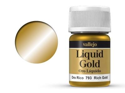 Vallejo Liquid Gold, 70.793, Металлик Насыщенный золотой, 35 мл