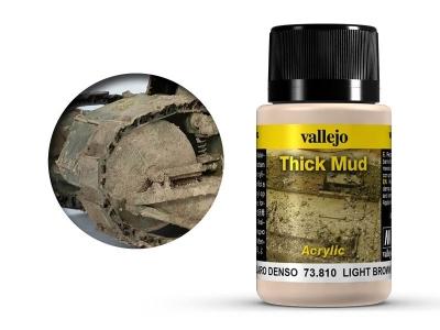Vallejo Weathering Light Brown Thick Mud, 73.810, грязь песчаных почв, 40 мл