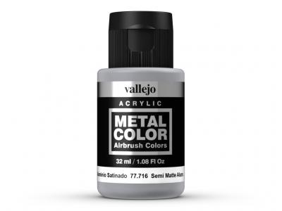 Vallejo Metal Color, 77.716, Металлик Полуматовый алюминий, 32 мл
