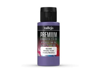 Vallejo Premium AirBrush Color, 62.045, Фиолетовый металлик, 60 мл