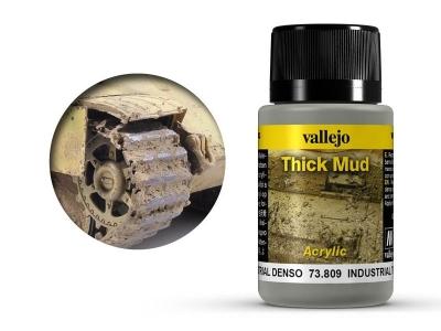 Vallejo Weathering Industrial Thick Mud, 73.809, городская грязь, 40 мл