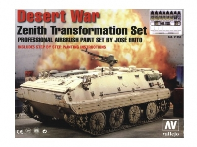 Набор красок Desert War Zenith Transformation для аэрографа, 71.153