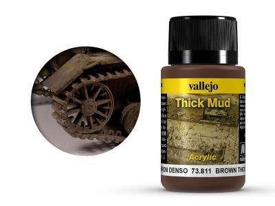 Vallejo Weathering Brown Thick Mud, 73.811, густая грязь Западной Европы, 40 мл