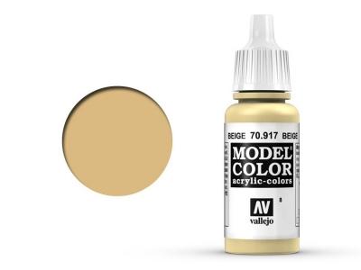 Vallejo Model Color, 70.917, Beige, Бежевая, 17 мл
