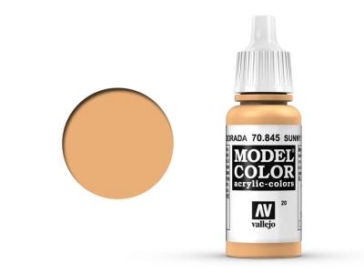 Vallejo Model Color, 70.845, Sunny Skin Tone, Яркий телесный, 17 мл