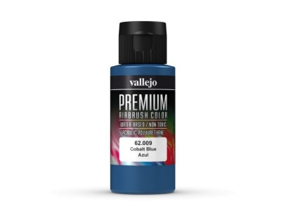 Vallejo Premium AirBrush Color, 62.009, Синий Кобальт, 60 мл
