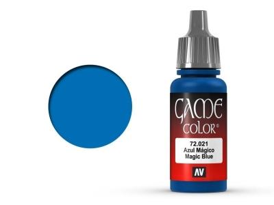 Vallejo Game Color, 72.021, Magic Blue, Магический синий, 17 мл