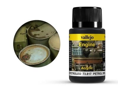 Vallejo Engine Petrol Spills, 73.817, следы тёмных нефтепродуктов, 40 мл