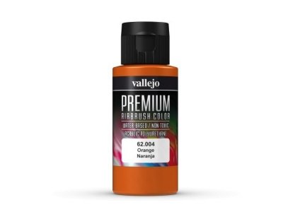 Vallejo Premium AirBrush Color, 62.004, Оранжевая, 60 мл