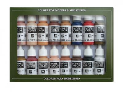 Набор красок Face and Skin Tones для кисти, 70.125