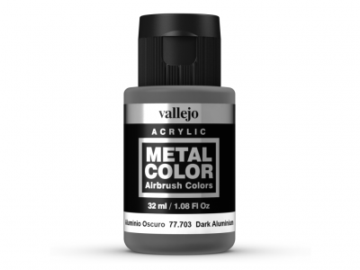 Vallejo Metal Color, 77.703, Металлик Тёмный алюминий, 32 мл