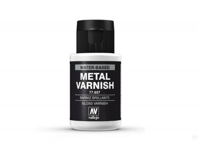 Vallejo Surface Gloss Metal Varnish, 77.657, Глянцевый лак для металликов, 32 мл