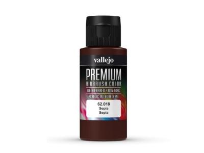 Vallejo Premium AirBrush Color, 62.018, Сепия, 60 мл
