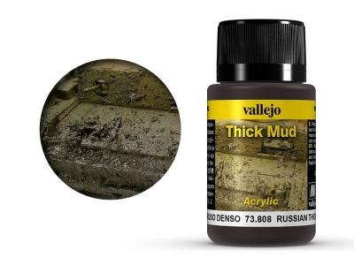 Vallejo Weathering Russian Thick Mud, 73.808, мокрый чернозём В. Европы, 40 мл