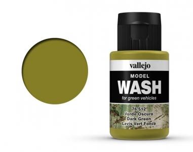 Vallejo Model Wash, 76.512, Проливка Тёмно-зелёная, 35 мл