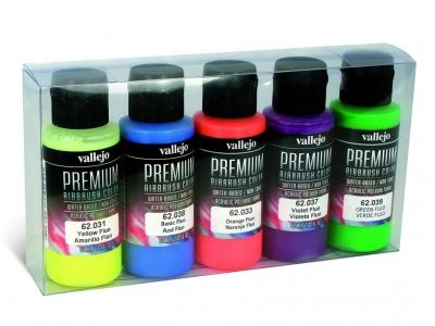 Набор красок Fluo Colors Set для аэрографа, 62.102