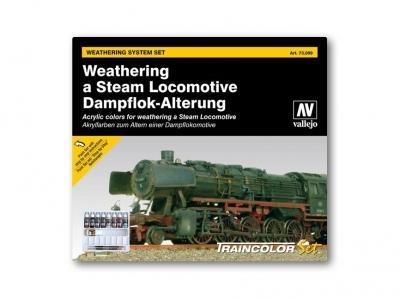 Набор красок Weathering a Steam Locomotive для кисти, 73.099